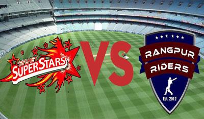 Sylhet Super Stars vs Rangpur Riders Live Scorecard