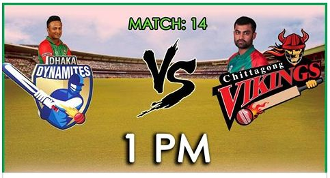 Dhaka Dynamites vs Chittagong Vikings Toss, Score, Match Result