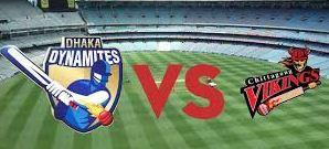 Chittagong Vikings vs Dhaka Dynamites Match Live Scorecard