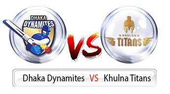 Qualifier 1 - Dhaka Dynamites vs Khulna Titans Live Score BPL 2016