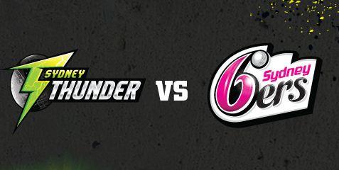 Sydney Thunder vs Sydney Sixers Live Score BBL 1st Match Result