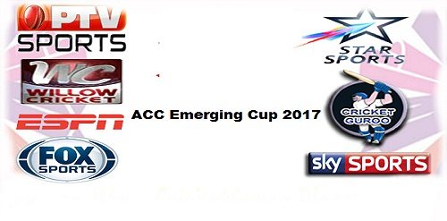 ACC Emerging Cup Live Telecast Tv Channel List
