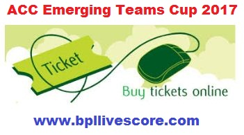 ACC Emerging Cup Ticket Purchase Online, Branch and Price List
