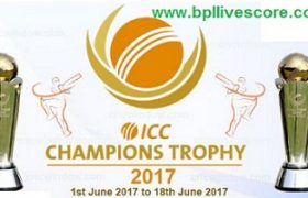 ICC Champions Trophy Schedule and Match Fixtures 2017