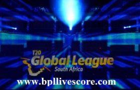 T20 Global League Points Table 2017