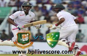 Bangladesh vs Australia Test Match 1st and 2nd Innings Score