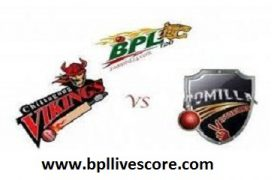 Chittagong Vikings vs Comilla Victorians Live on GTV of BPL 2017