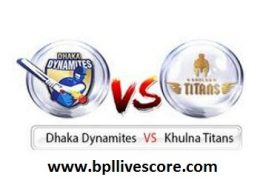 Khulna Titans vs Dhaka Dynamites Live on GTV Channel of BPL 2017