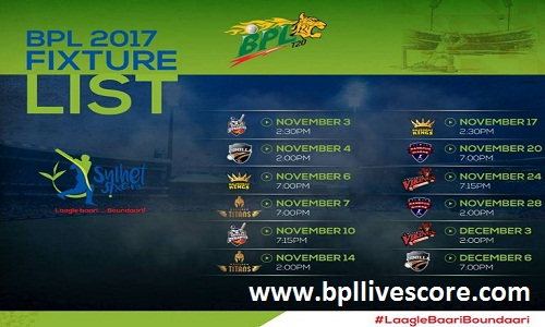 Sylhet Sixers Match Ticket, Schedule, Coach and Points of BPL 2017