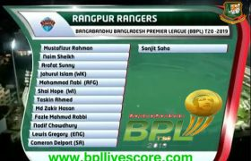 Rangpur Rangers Player List and Team Squad BPL T20