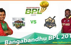 Khulna Tigers vs Chattogram Challengers Live Score