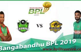 Sylhet Thunder vs Rajshahi Royals Live Score