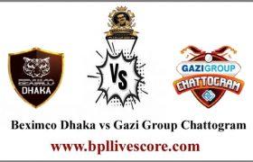 Beximco Dhaka vs Gazi Group Chattogram Live Score