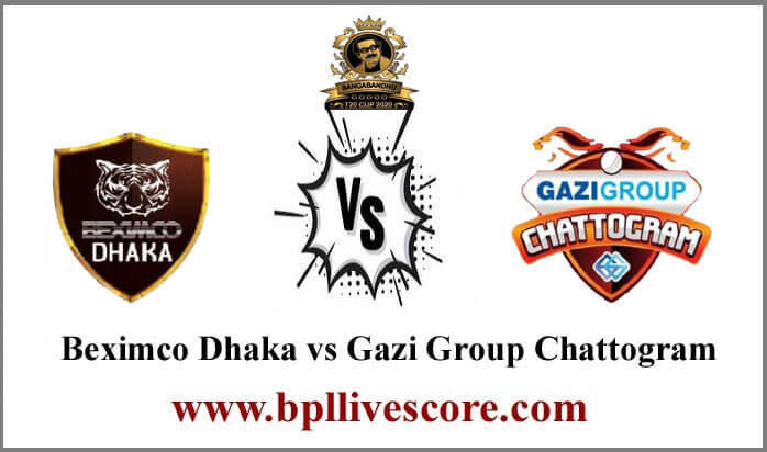 Beximco Dhaka vs Gazi Group Chattogram Live Score