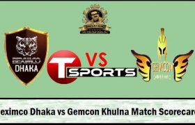 Beximco Dhaka vs Khulna Live Score Bangabandhu T20 Cup