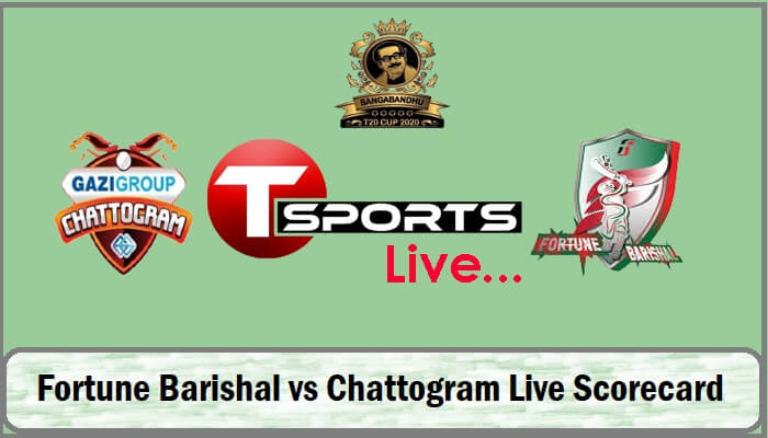Fortune Barishal vs Chattogram Live Score Today Match