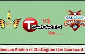 Gemcon Khulna vs Gazi Group Chattogram Live Score