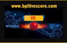 Mumbai vs Delhi Live Score Syed Mushtaq Ali Trophy